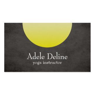 Grey Yellow Yoga Instructor Business Card