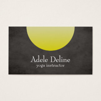 Grey Yellow Yoga Instructor Business Card