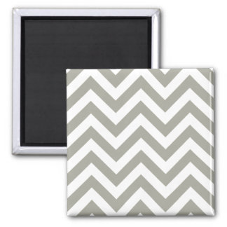 Grey Zig Zag Chevrons Pattern Refrigerator Magnet