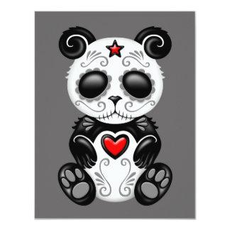 Grey Zombie Sugar Panda Card