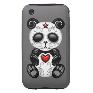 Grey Zombie Sugar Panda iPhone 3 Tough Covers
