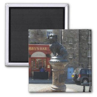 Greyfriars Bobby Edinburgh Square Magnet