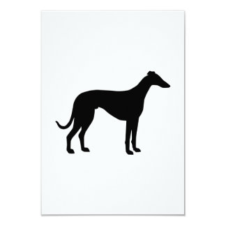 Greyhound 3.5x5 Paper Invitation Card
