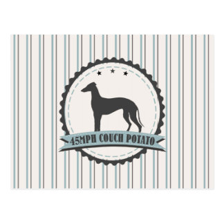 Greyhound 45 mph Racing Hound Dog Emblem Postcard