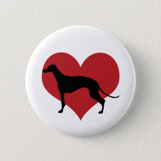Greyhound 6 Cm Round Badge