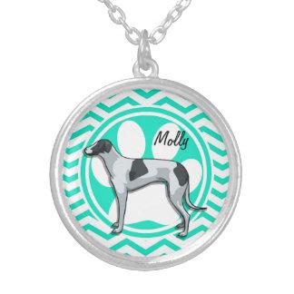 Greyhound Aqua Green Chevron Custom Jewelry
