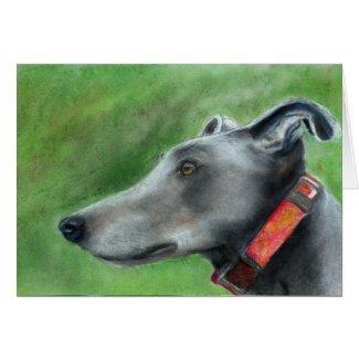 Greyhound art card (a53) title=