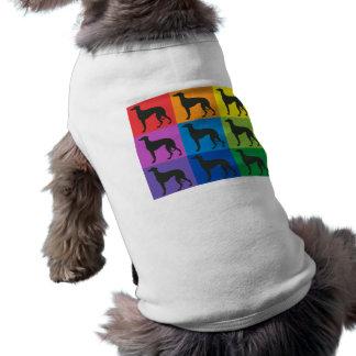 Greyhound Art Doggy T-Shirt Sleeveless Dog Shirt