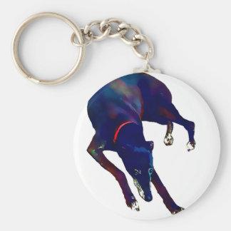 Greyhound Art Key Ring