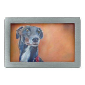 Greyhound belt buckle (a331)