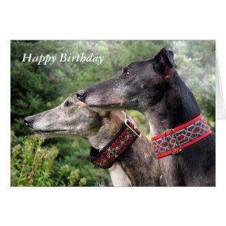 Greyhound birthday card (p338)
