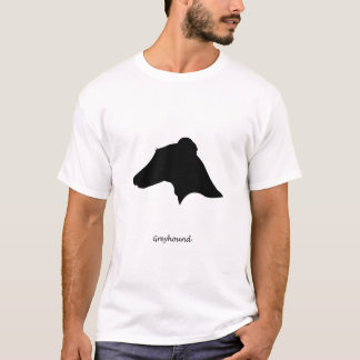 Greyhound - black Silhouette T-Shirt
