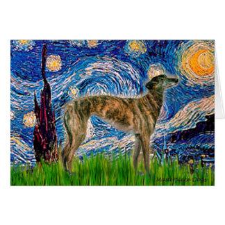 Greyhound (br2) - Starry Night Card