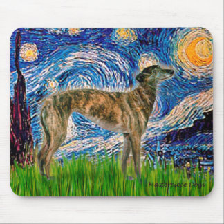 Greyhound (br2) - Starry Night Mouse Mat