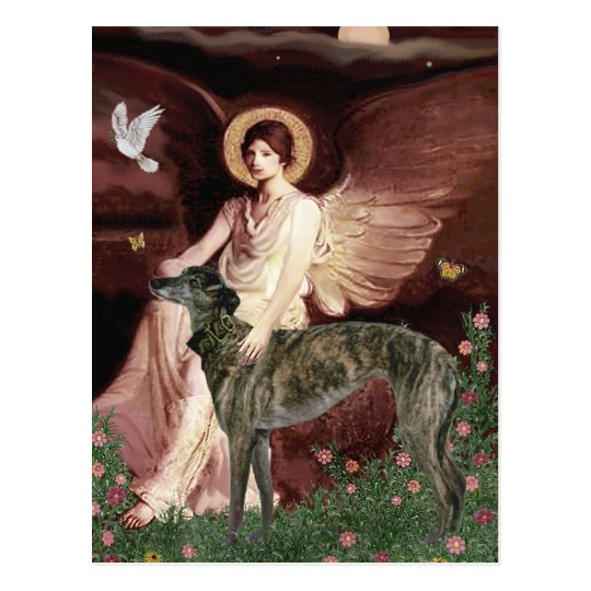 Greyhound (br) - Seated Angel Postcard