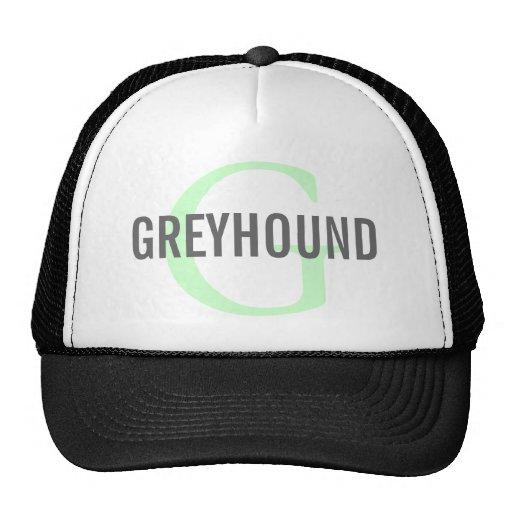 Greyhound Breed Monogram Design Mesh Hats
