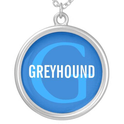 Greyhound Breed Monogram Design Jewelry