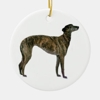 Greyhound - Brindle (standing) Christmas Ornament