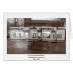 Greyhound Bus Station Greeting Card