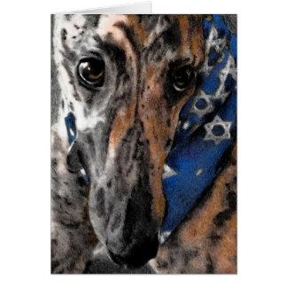 Greyhound card for Chanukah / Hanukkah / Passover