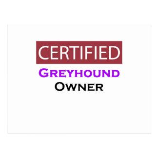 Greyhound Certified Owner Postcard