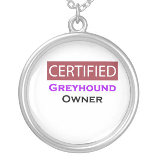 Greyhound Certified Owner Round Pendant Necklace
