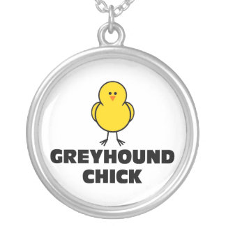 Greyhound Chick Personalized Necklace