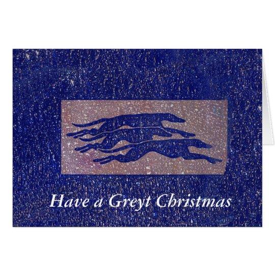 Greyhound Christmas card (g325)