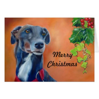 Greyhound Christmas card (p335) title=