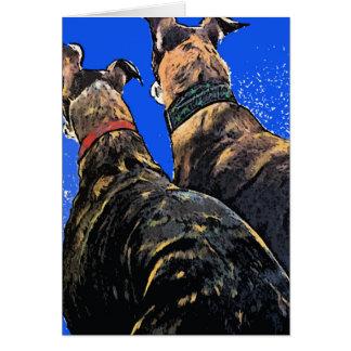 Greyhound Christmas Greeting Card