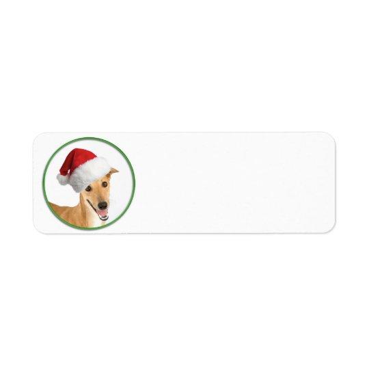 Greyhound Christmas Return Address Label