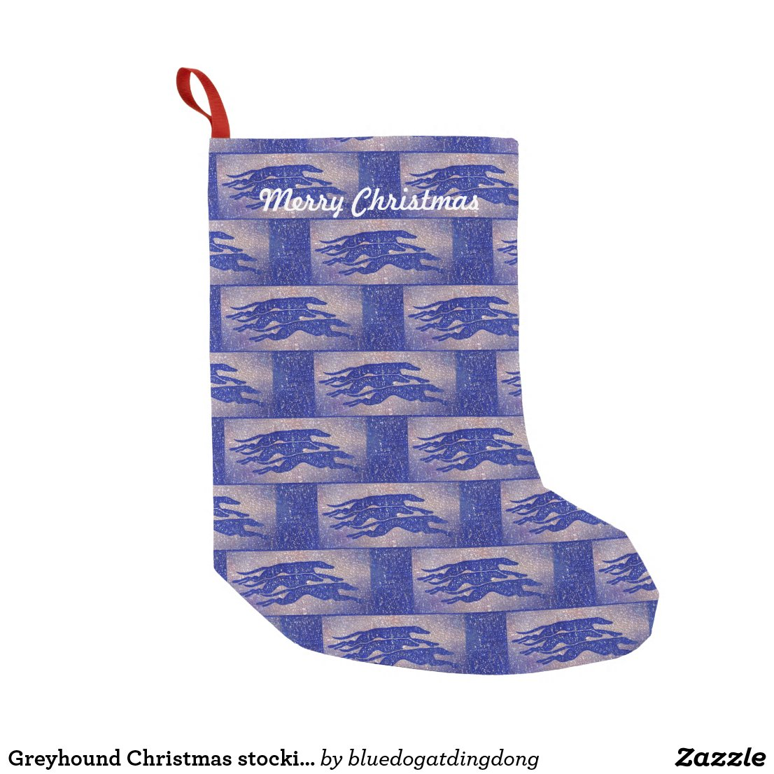 Greyhound Christmas stocking (g323) title=