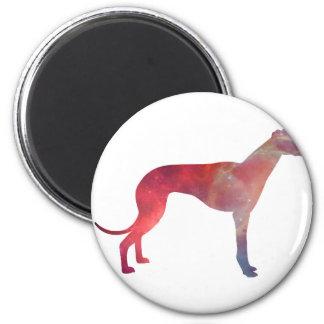 Greyhound cosmos silhouette magnet