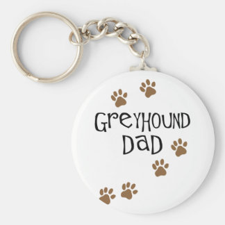 Greyhound Dad Key Ring