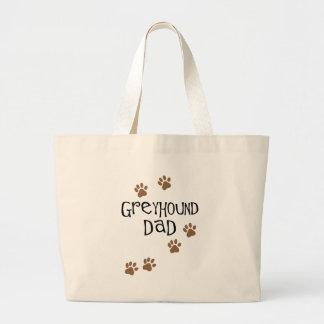 Greyhound Dad Large Tote Bag
