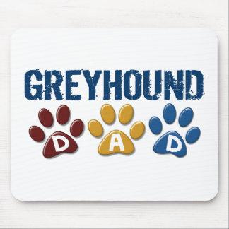 GREYHOUND Dad Paw Print 1 Mouse Pad