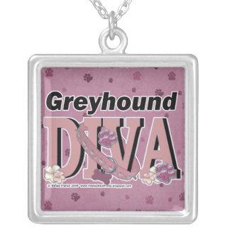 Greyhound DIVA Personalized Necklace