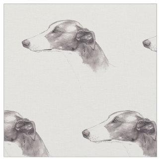 Greyhound Dog Art Fabric