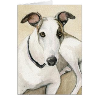 Greyhound Dog Art Notecard