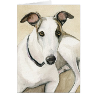 Greyhound Dog Art Notecard Note Card