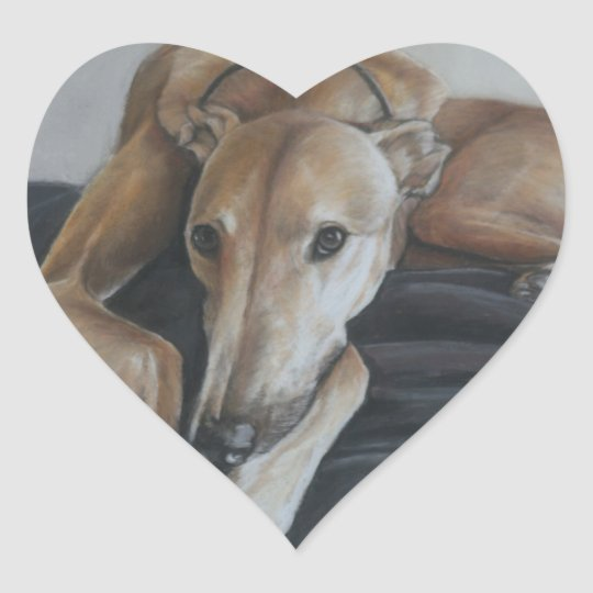 Greyhound Dog Art Sticker