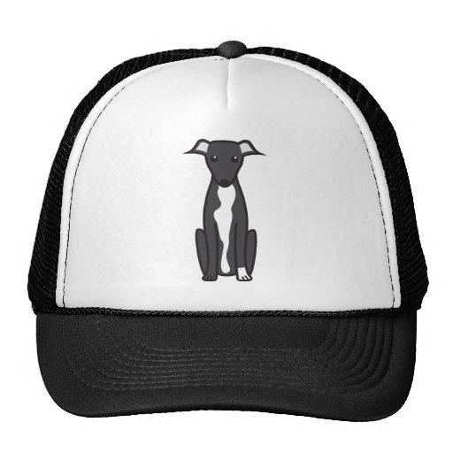 Greyhound Dog Cartoon Trucker Hat