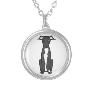Greyhound Dog Cartoon Pendant