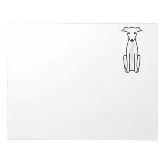 Greyhound Dog Cartoon Notepad