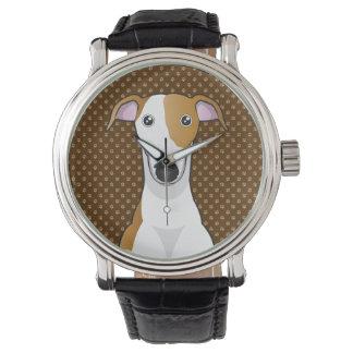 Greyhound Dog Cartoon Paws Watch