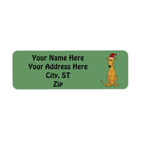 Greyhound Dog Christmas Address Labels or Gift Tag