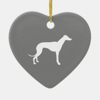 Greyhound Dog Christmas Ornament