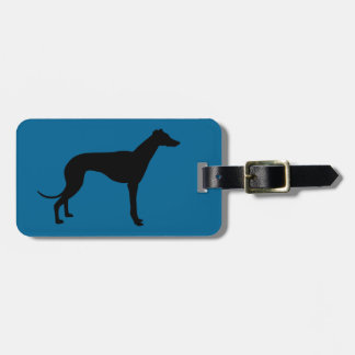 greyhound dog luggage tag