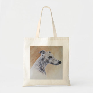 Greyhound Dog Painted in Watercolour Budget Tote Bag