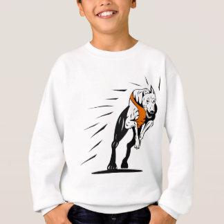 greyhound dog racing retro sweatshirt
